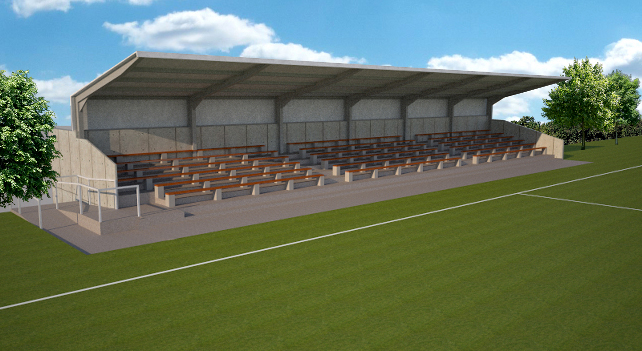 An artistists impression of the new stand